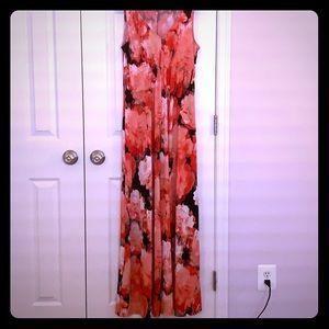T Tahari Coral Maxi Dress